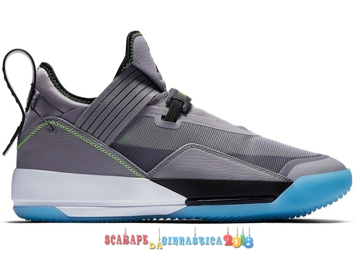 "Scarpa da basket - Air Jordan 33 Se ""Cement Gris"" Gris (CD9561-007) - Uomo Replica"