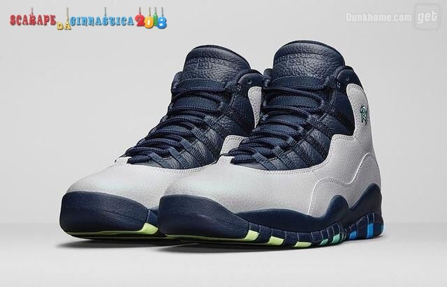 Buy Air Jordan 10 Gris Blu - Uomo - Scarpe da basket