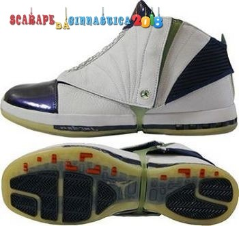 Buy Air Jordan 16 Bianca Porpora - Uomo Replica