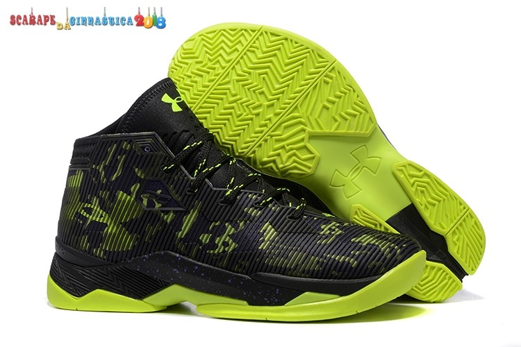 Scarpa da basket - Stephen Curry 2.5 Buio Blu Verde - Uomo Replica